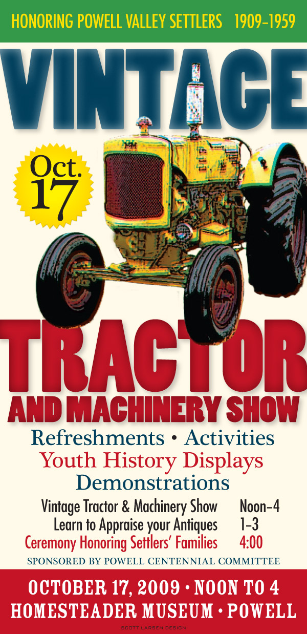 Homesteader Tractor Poster