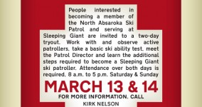 Ski Patrol Tryouts